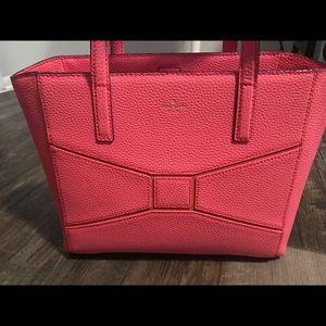 Kate Spade Flamingo Pink Bow Handbag Purse